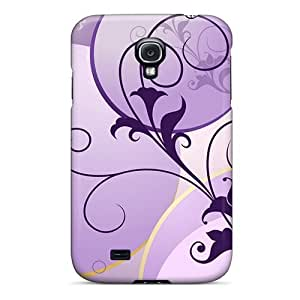 Hot EqU2687AwCs Purple Spring Tpu Case Cover Compatible With Galaxy S4