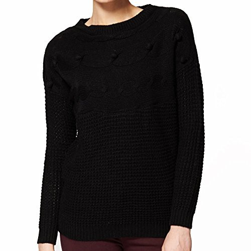 Jersey de manga larga negro con detalle de borla Black