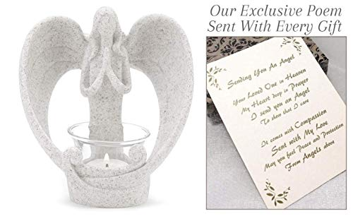 Sending You an Angel Candle Holder to Express Sympathy for Funeral Or Memorial Comfort The Grieving for Loss of A Loved One (Poems To Send To Your Best Friend)