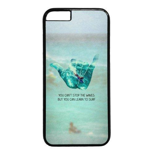 Anglais Citation vous ne pouvez pas arrêter les vagues mais vous pouvez apprendre à thème de surf iPhone 6Coque (11,9cm)