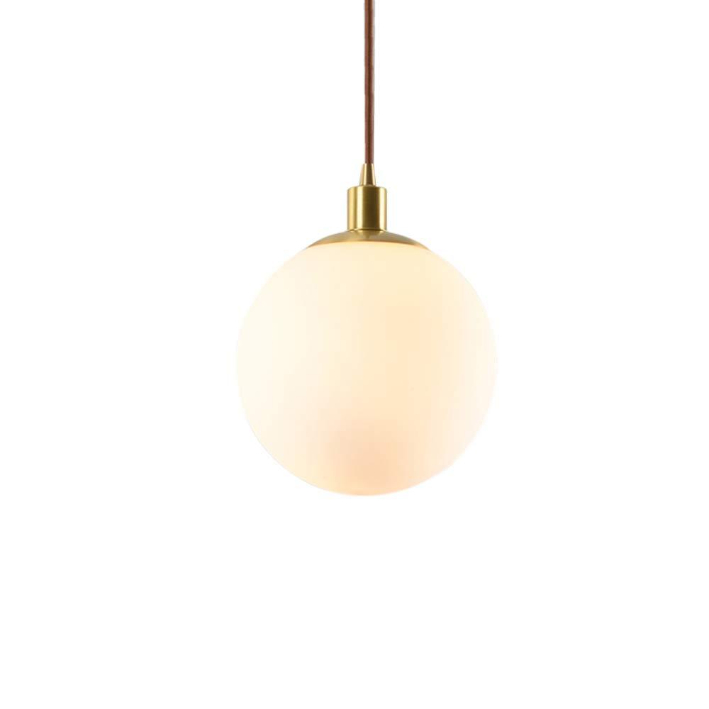 All-kupfer LED Kronleuchter, Nordic Golden Glaskugel Runde Dekorative Mini Deckenleuchte Postmodernes Hotel Wohnzimmer Kleidung Esstisch Pendelleuchte (Größe   20  25cm)