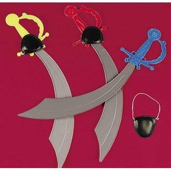 PIRATE SWORD WITH EYE PATCH (1 DOZEN) - BULK by Fun (Balloon Pirate Sword)