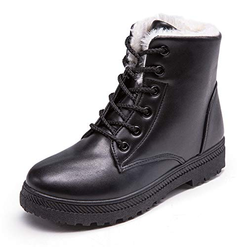 Martin A Hiver Bottines Lacet Cotton Plates Chaud Gros Dames Chaussures Code Cravate nF6POqI