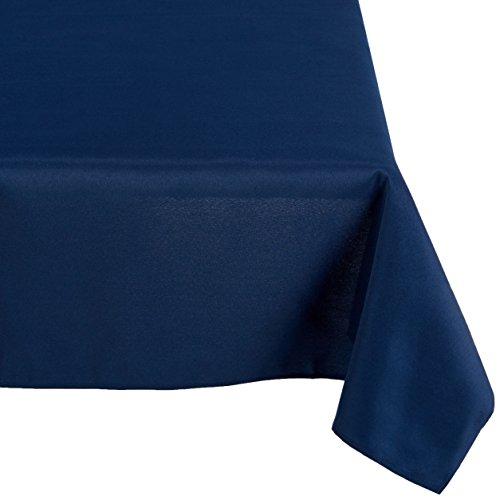 LinenTablecloth 60 x 126-Inch Rectangular Polyester Tablecloth Navy Blue