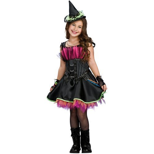 [Girls Rockin Out Witch Costume, Black, Girls by Asstd National Brand] (Girls Rockin Witch Costumes)