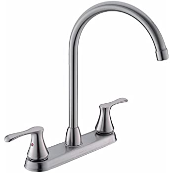 Comllen High Arc Swivel Spout Brushed Nickel Two Handle