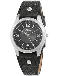 S.Oliver SO-2945-LQ - Reloj analógico de cuarzo para mujer con correa de piel