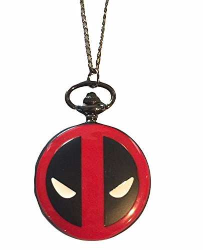"""Marvel+Watches Products : Marvels DEADPOOL Large 2"""" Wide Logo Pendant Pocket Watch"""
