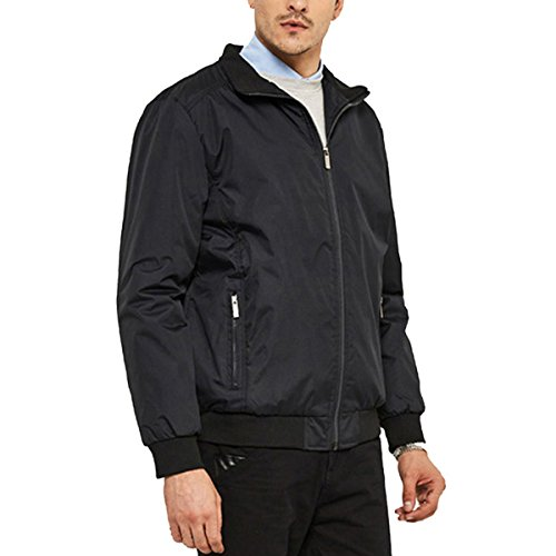Stunner Men Casual Outdoor Jackets Active Lightweight Windproof Bomber Coats US M Black
