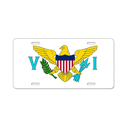(CafePress - USVI Flag - Aluminum License Plate, Front License Plate, Vanity Tag)