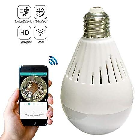 Buy DUBY Light Bulb Security WiFi Fisheye Security