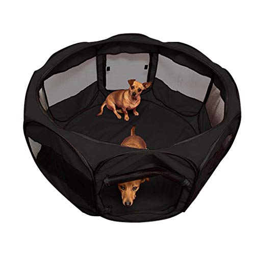 ZH1 Pet Bag Large Pet Dog Fence Eight-face Tent Oxford Cloth Waterproof Anti-Scratching Dog Cat Nest Maternity Ward (Color : B)