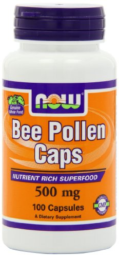 Cheap NOW Bee Pollen, 500mg, 100 Capsules (Pack of 3)