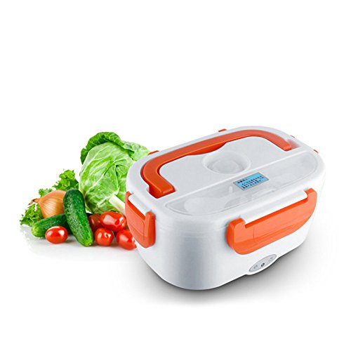 12V Electric Heating Lunch Box , ADSRO Car Use Portable Bento Meal Prep Lunch Box Lunch Container Bag Food Warmer for Adults Kids Office Snack Food(Orange)
