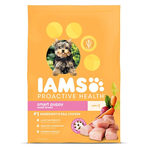 IAMS PROACTIVE HEALTH Small & Toy Breed Smart Puppy Dry Dog Food for Small Dogs with Real Chicken, 7 lb. Bag (Best Puppy Food For Toy Breeds)