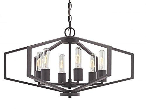 (Dolan Designs 1145-78 Six Light Chandelier, Bronze/Dark)