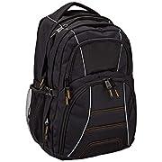 Amazon Basics, Laptop-Rucksack mit gepolsterten Schulterriemen und Aufbewahrungsfächern für Stifte, Schlüssel, Handy…