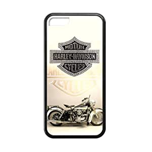 iPhone 5C Hipster Harley Davidson Warm Color Case Covers for iPhone 5C TPU (Laser Technology)