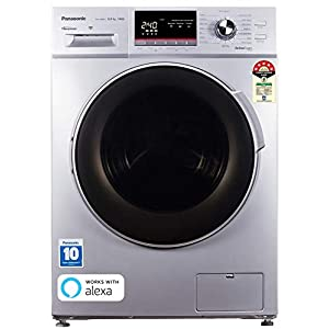 Panasonic 8.0 Kg 5 Star Wifi Inverter Fully-Automatic Front Loading Washing Machine (NA-148MF1L01, Silver, Compatible…