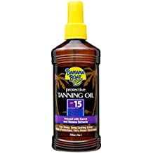 Banana Boat Sunscreen Protective Tanning Oil Broad Spectrum Sun Care Sunscreen Spray - SPF 15, 8 Ounce