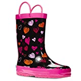 ZOOGS Children's Rubber Rain Boots, Little Kids & Toddler, Boys & Girls Patterns, Pink (Bunny), 13 Little Kid