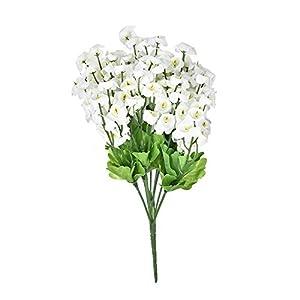 FYYDNZA 2 Bouquet/Set Silk Flower Fake Wind Simulation Artificial Flowers For Diy Wedding Flower Bouquet Home Garden Decoration,White 82