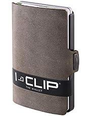 I-CLIP ® Geldbörse Soft-Touch Olive, Gunmetal-Black (In 8 Varianten Erhältlich)