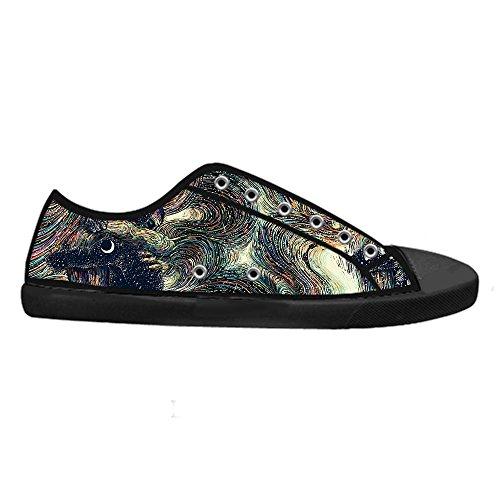 Canvas CHEESE Lacci Custom con Traspirante Classic Art Design Scarpe Nero Low Flat Uomo Sneaker Chiusura da Top wr8UHw