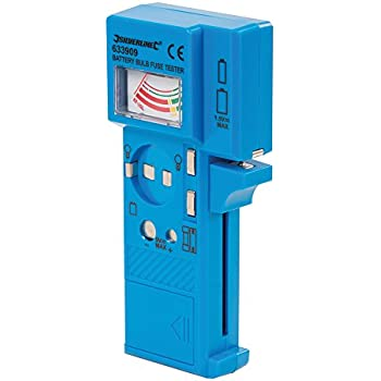 Silverline Battery, Bulb & Fuse Tester 1.5v - 9v