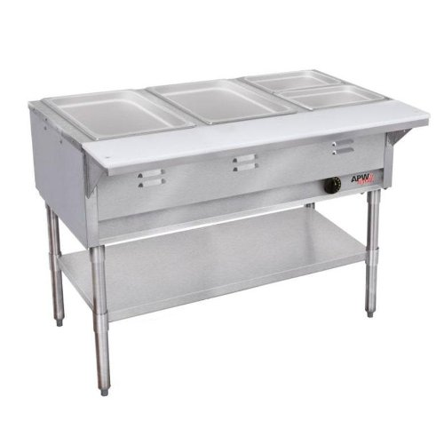 - APW Wyott WGST-5-NG Natural Gas Champion Hot Well Wet Bath Steam Table