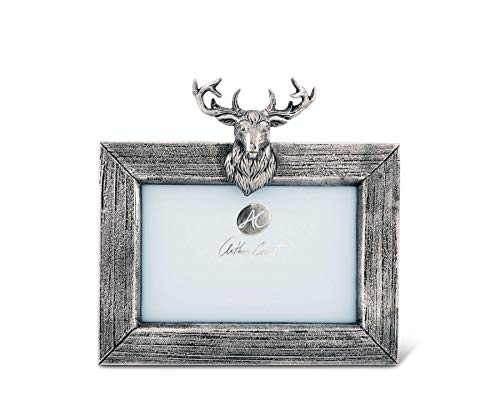 Arthur Court Elk/Deer Mount Aluminum Picture Frame - 4 x 6 Photo ()