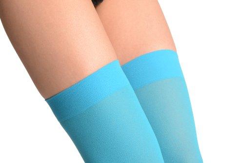 Royal Blue Plain Opaque 40 Den - Hold Ups - Azul Medias autoadhesivas Talla unica (34-40)