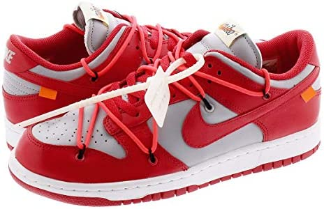DUNK LOW LTHR UNIVERSITY RED/WOLF GREY 【OFF-WHITE】 [並行輸入品]