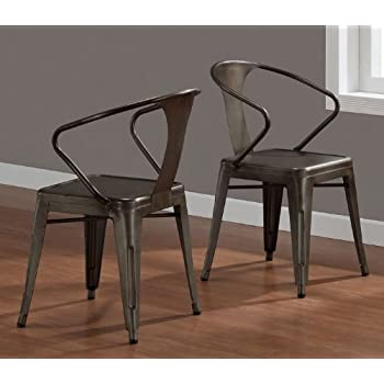 amazon com vintage tabouret stacking chair set of 4 steel