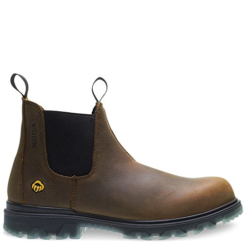 Wolverine Men's I-90 Waterproof Composite-Toe Romeo Slip-On Construction Boot, Sudan Brown, 7 M US