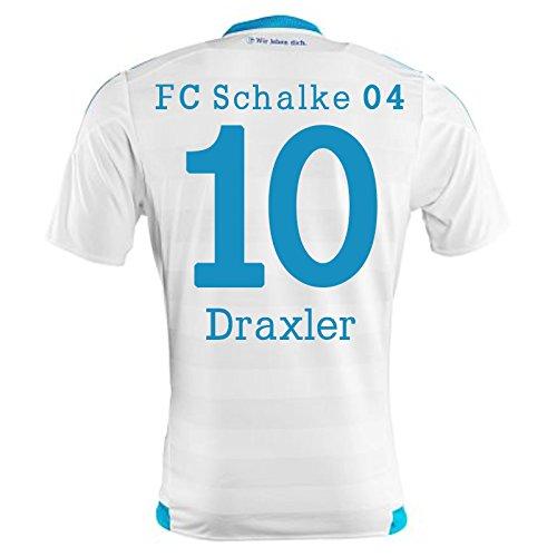 2015-16 Schalke Away Shirt (Draxler 10) B077VQ22JXWhite XL 44-46\