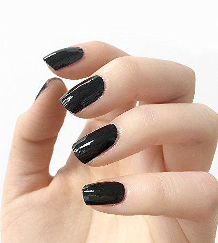 Authentic Incoco Nail Polish 16 Double-ended Strips By It's a Nail - Black Jack