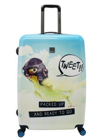 Saxoline Blue Tweet Maleta a 4 ruedas 77 cm tweet