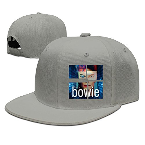 CYANY DBowie Singer Songwriter Actor Popular Music LIGHTS Flat Bill Snapback Adjustable Golfer Hats Ash