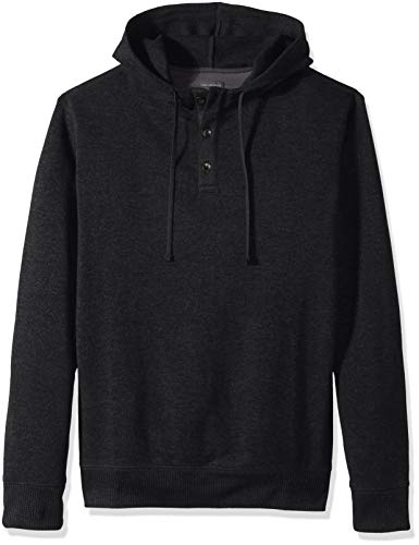 Van Heusen Men's Size Big and Tall Never Tuck Sweater Fleece Hoodie, Black, Large Tall
