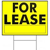 18 x 24 For Lease Sign w/ H Stake