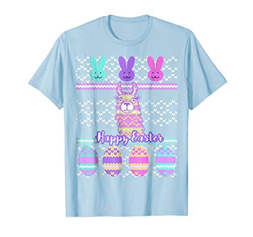 - Ugly Easter Shirt Llama Bunny Face