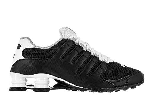 Nike Shox Nz Se Mens Scarpe Da Corsa 833579 Nero / Bianco / Grigio Lupo