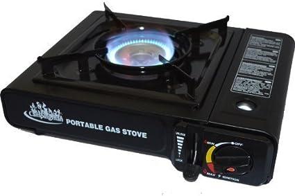 RSonic Cocina Camping Cocina Gas Cocina de Gas Outdoor Estufa Cartucho Estufa de Gas butano + 4 Cartuchos