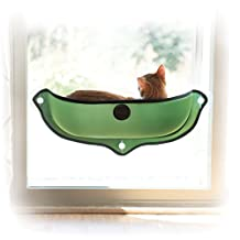 K&H Manufacturing EZ Mount Window Bed Kitty Sill Green 27-Inch X 11-Inch
