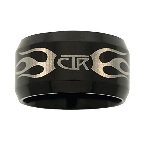 CTR Ring Flames Black Tungsten Carbide ''Ignitor'' - J129 (12.5) by Ringmasters