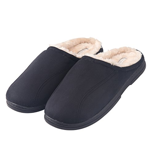KushyShoo Men's Indoor Outdoor Cozy Clog Slippers