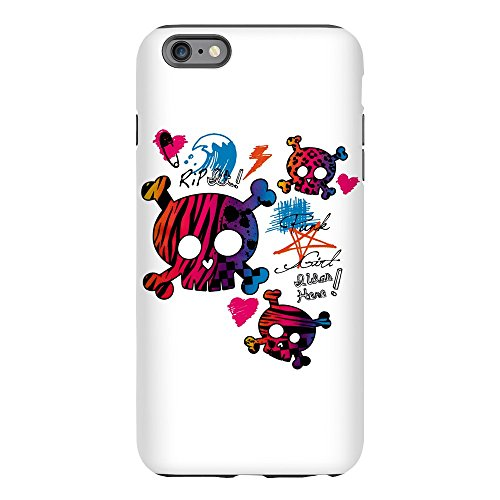 (iPhone 6 Plus Tough Case Punk Girl Skulls Peace)
