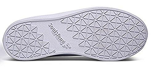 Soulsfeng Männer Frauen Mode Sneaker Lace UP Rindleder Leder Casual Low Top Skateboard Schuh Weiß
