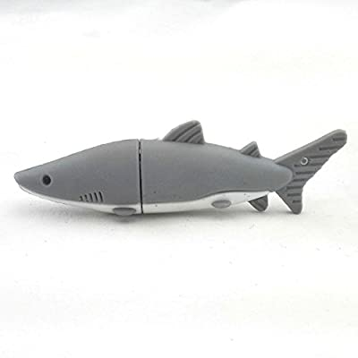 Aneew Gray Pendrive Shark Fish USB Flash Drive Memory Thumb Stick by Aneew